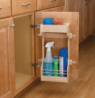 Rev-A-Shelf RS4SBSU.15 Rev-A-Shelf Door Mount Cleaning Supply Rack