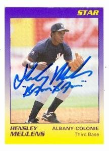 Hensley Meulens Autographed Baseball Card New York Yankees 1989