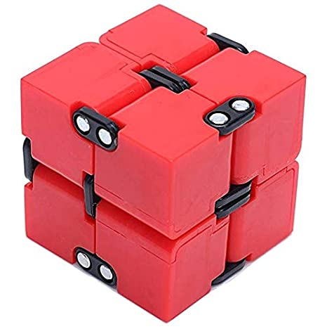 EDC Fidgeter White Infinity Cube Fidget Toy. Fidget Cube Stress Toy. Prime Quality Cool Quiet Fidgeters Gadget. Perfect Office Toy, Desk Toy & Stress Relief Cube for Kids and Adults