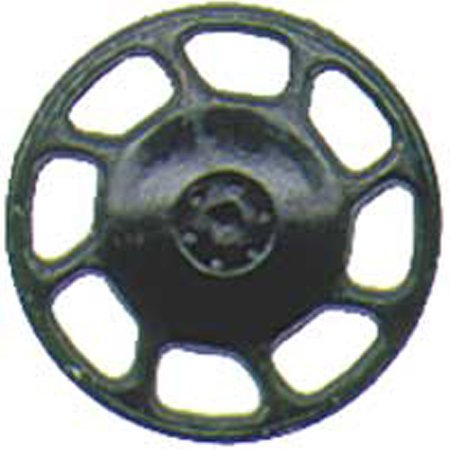 HO Brake Wheel, Universal/Black (8) - Caboose Brake