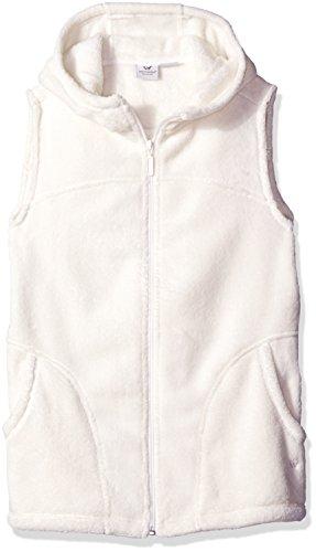 White Sierra Cozy Fleece Hooded Vest, Cloud, ()