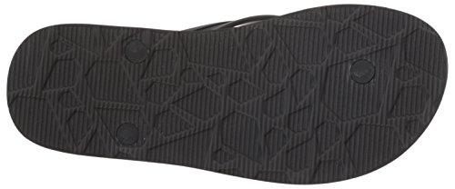 Volcom Men's Victor SNDL Grau Zehentrenner Flip Flops Black (Dark Wave) wwG5E0pyX
