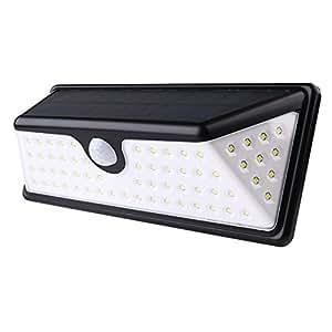 Iluminación de sensor de movimiento de luz exterior de Solar tafci LED para la diseño gran ángulo de patio con 3LEDs a la vez blanco lateral (6000K)