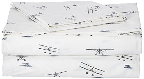 (Eddie Bauer Sheet Set, Twin, Sea Planes)