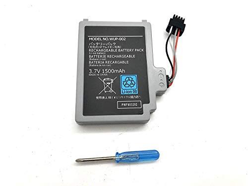 Aluo 3.7V1500mAh New Battery for Nintendo Wii U, Wii U Gamepad, WUP-010 WUP-012 (Battery Pack High Capacity Wii U Gamepad)