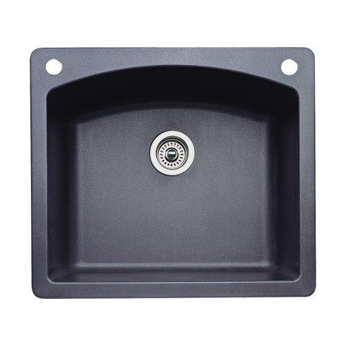 Blanco 440210 2 diamond 2 hole single basin drop in or - Kitchen sink saying ...