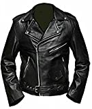 Celebrita Italy Black Leather Jacket Sheep Black M - For Chest 38''-40''