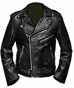 Celebrita Italy Black Leather Jacket Sheep Black M - For Chest 38''-40'' by celebrita