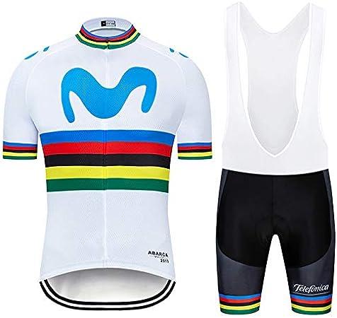 ZHLCYCL Ciclismo Completo Bici Uomo Estivo con Maglia e Pantaloncini Corti Imbottiti Traspirante per MTB