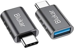 Blukar USB C Adapter auf USB 3.0, [2 Stücke] USB Typ C Adapter mit OTG, Thunderbolt 3 to USB 3.1, Kompatibel mit Huawei,...