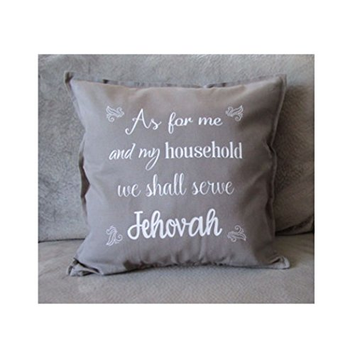 As for me and my household we shall serve Jehovah, Pillow Cover, 20