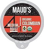 Maud's Organic Colombian Coffee (Medium Roast), 24ct. Recyclable Single Serve Fair-Trade Organic Single Origin Coffee Pods