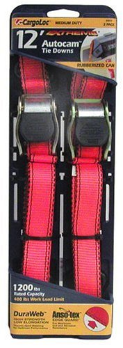 CargoLoc 84031 12-Foot Extreme AutoCam Tie Downs, 2-Pack (Allied Down International Tie)