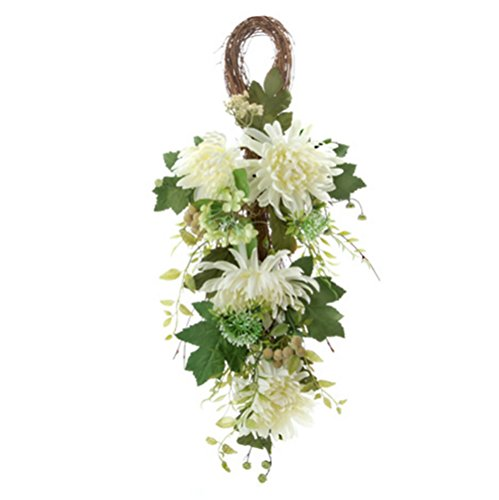 """RetailSource Spring Floral 30"""" Artificial White Chrysanthemu"""
