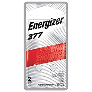 Energizer Silver Oxide 377 Batteries (2 Battery Count) – Packaging May Vary