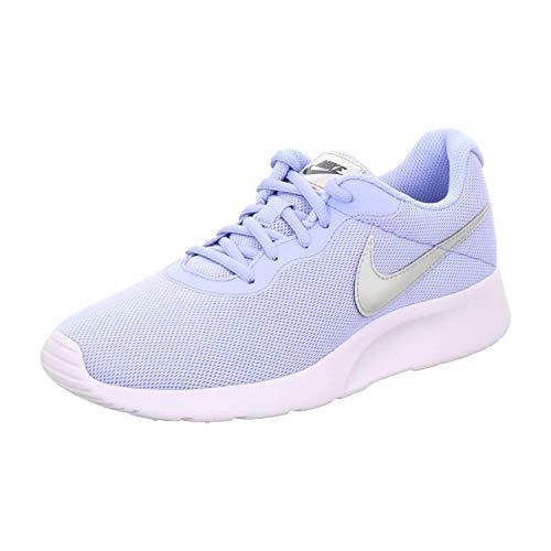 Nike Womens Tanjun Running Sneaker Aluminum/Black 812655-406 (8.5 B US)