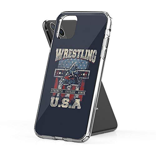 rebecc USA Wrestling T Shirts - for Youth, Men Long and Short Sleeve Case Cover Compatible for iPhone iPhone (11) (Section 11 Wrestling)