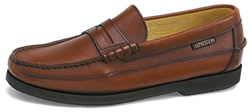 Mephisto Men's Cap Vert Penny Loafer, Rust Smooth, 10 M US by Mephisto
