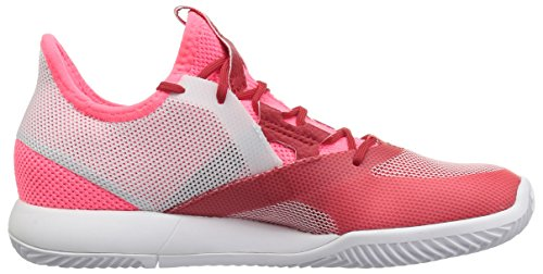 adidas Women's Adizero Defiant Bounce Tennis Shoe Flash red/White/Scarlet 6 M US by adidas (Image #6)