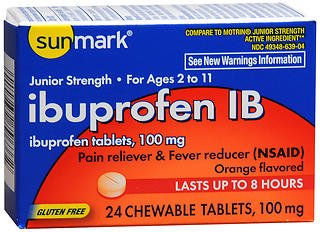 - Sunmark Ibuprofen IB 100 mg Chewable Tablets - 24 ct, Pack of 6