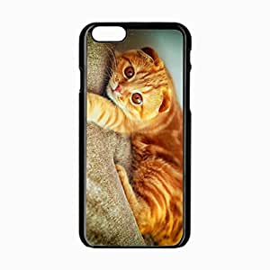 iPhone 6 Black Hardshell Case 4.7inch portrait plays paw cat Desin Images Protector Back Cover