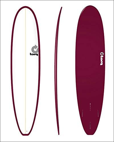 TORQ SurfBoard トルク サーフボード COLOR PINLINE2 [BURGUNDY PINLINE] MINI LONG 8'0 ミニ ロングボードボード エポキシボード EPS B07GDFG7MK