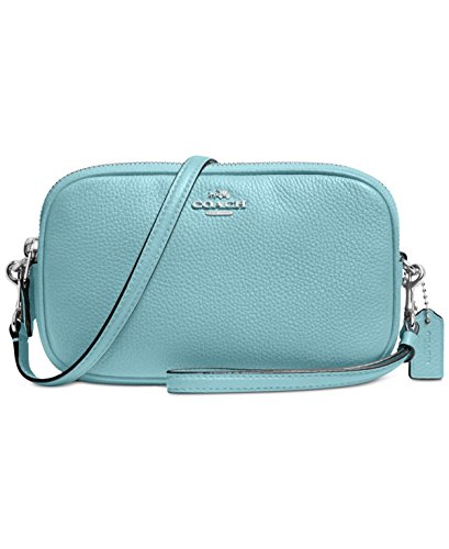 COACH Women's Pebbled Crossbody Clutch Sv/Cloud Clutch by Coach