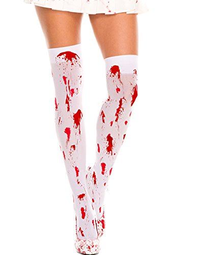 Lidoso Womens Halloween Punk Ripped Zombie Bride Costumes Cosplay Bloody -