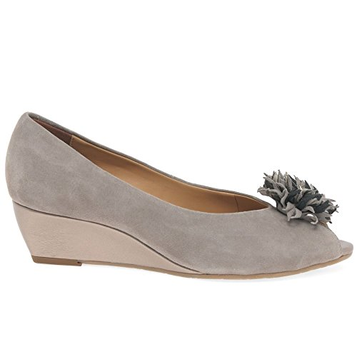 Suede Fawn Ouvert Kingswood blanc Bout Prisd Femme Dal Off Patent Van FS4xBPwqn