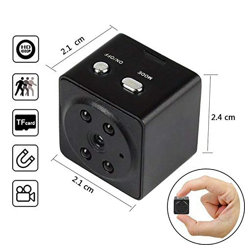 HZTCAM 32GB Mini Spy Camera Wireless Hidden, Full HD 1080P Portable Small Covert Home Nanny Cam with Motion Detection and Night Vision,