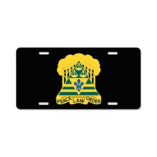Army 260th Military Police Brigade District of Columbia License Plate Cover - Personalized Metal License Plate Auto Car Tag 12