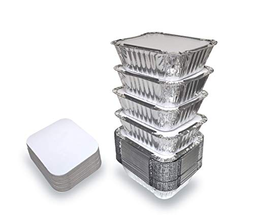 small aluminum pans with lids - 1