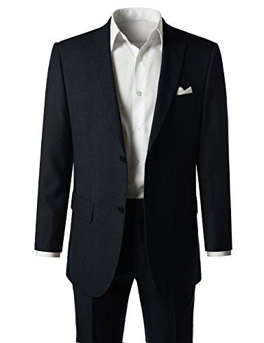 MONDAYSUIT Men's Modern Fit Solid 2-Piece Suit Blazer & Trousers