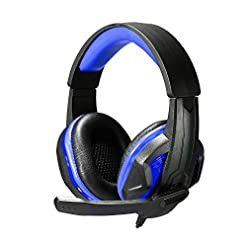 Docooler SOYTO SY711MV 3.5mm LED Earphone Gaming Headset Gamer PC Headphone Headband Stereo Game Earphone with Microphone for Computer