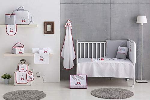 HIPPO Housse de couette pour lit de bébé 100 x 135 cm