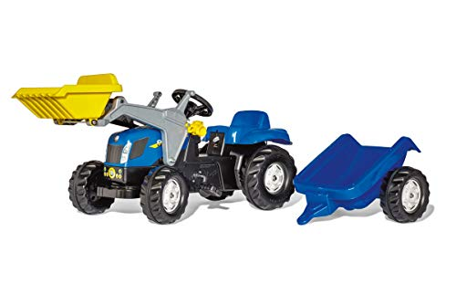 Rolly Toys New Holland Kid-X Front Loader Tractor, Blue