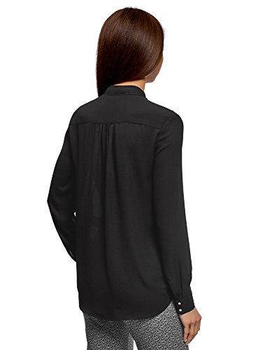 Liens 2900n Noir Chemisier Nouer oodji avec Femme Ample Collection FTxTqvwZ