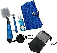 SM SunniMix Golf Club Cleaning Kit - Golf Towel, Golf Club Cleaner, Divot Repair Tool, Golf Club Brush, Golf G