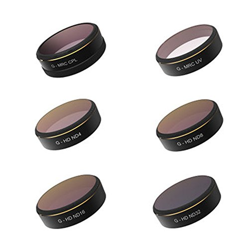gouduoduo2018 Lens Filter for DJI phantom 4 Pro phantom 4 Pro+ (MCUV CPL ND4 ND8 ND16 ND32)