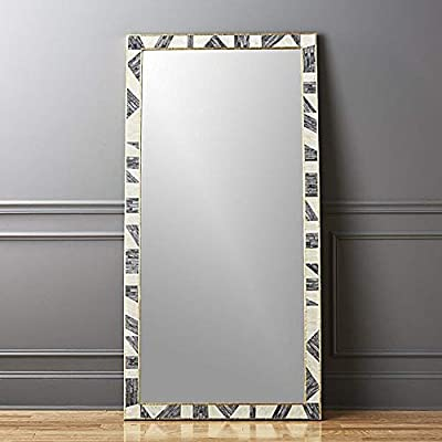 Stylish and Elegant Colour Bone Brass Inlay Floor Mirror -  - mirrors-bedroom-decor, bedroom-decor, bedroom - 4189W3P8rGL. SS400  -