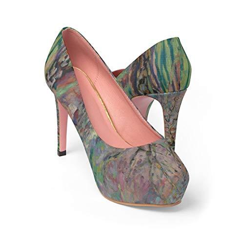 NoLag Art Printing Women's Platform Heels - Armand Guillaumin - Crozant, la - Armand Platform