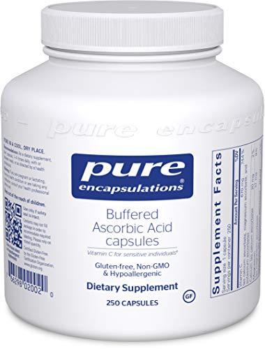 - Pure Encapsulations - Buffered Ascorbic Acid - Vitamin C for Sensitive Individuals - 250 Capsules