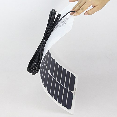 NW 1776 Flexible Solar Battery Maintainer 18V 12V 20W Solar Car Boat Power Panel Battery Charger Maintainer for Automobile Motorcycle Tractor Boat Batteries by NW 1776 (Image #4)