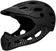 Cycling Helmet Off-Road Helmet Sports Helmet Vehicle Full Face for Adult Men Women Black