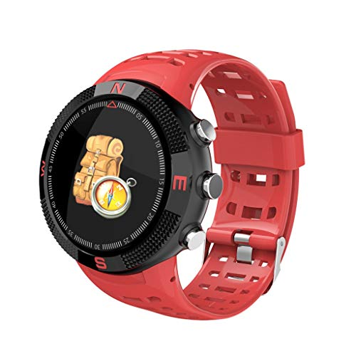 Dasuy Fitness Tracker for Men Women Kids, Sport Smart Watch IP68 Waterproof 1.3 Inch Smart Band with Heart Rate Monitor, Step Calorie Counter 14 Sports Mode Sleep Monitor (Red)