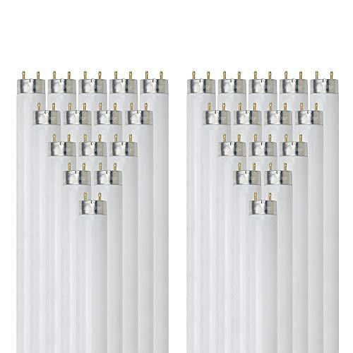 Sunlite F25T8/SP835 25 vatios T8 lámpara fluorescente medio Base Bi Pin, 3500 KB, Pack de 30