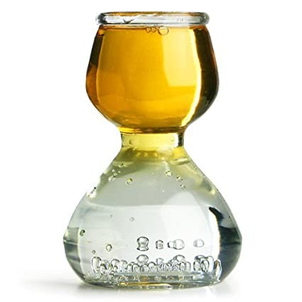 Set of 6 Quaffer Double Bubble Layered Shot Glass