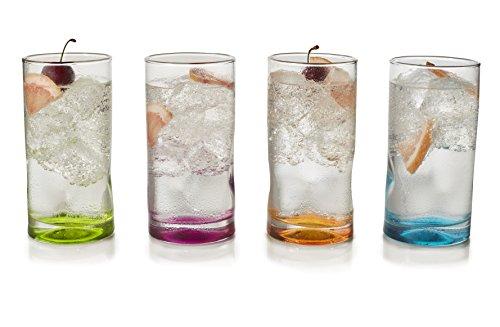 (Libbey Impressions Colors Tumbler Glasses, Set of 4)