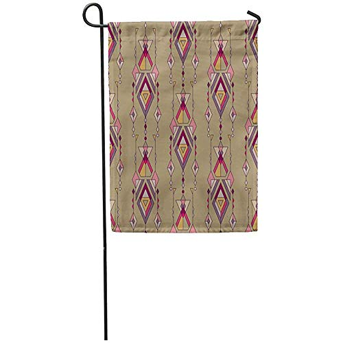 (Staromia Garden Flag 12x18 Inches Print On Two Side Polyester Colorful Native Tribal Vintage Ethnic Aztec Mexican Navajo African Abstract Amer Home Yard Farm Fade Resistant Outdoor House Decor Flag)