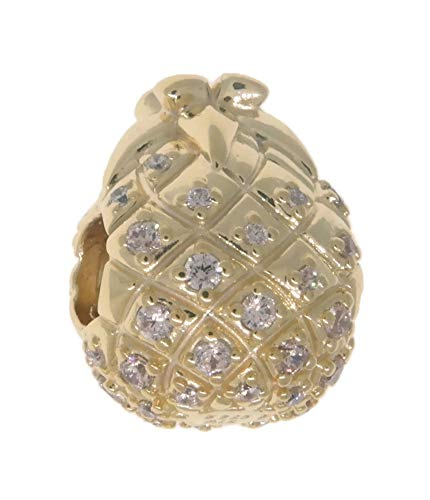 PANDORA Golden Pineapple 18k Gold Plated PANDORA Shine Collection Charm - 767904CCZ by PANDORA (Image #2)